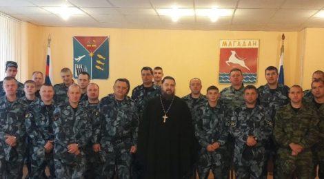 Протоиерей Иосиф Дзагоев побеседовал с сотрудниками отдела конвоирования